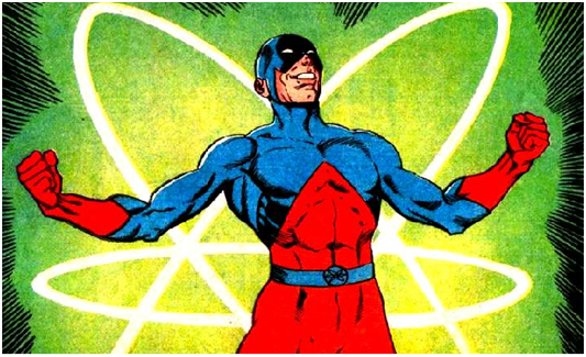 Superhero costume the Atom
